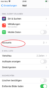 iOS Accounts