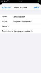iOS E-Mail informationen