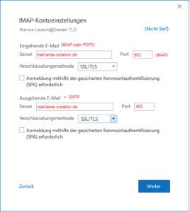 Outlook 2019 Kontoeinstellung